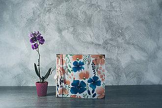 Papiernictvo - Fotoalbum klasický, polyetylénový obal s potlačou peknou kvetinkovou - 9338457_