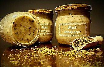 Potraviny - Med a zelený pepř (zelené korenie ) - 9338252_