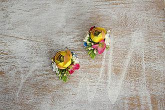 Náušnice - Kvetinové naušničky