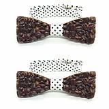 Doplnky - Kávovo-živicový motýlik Chenya - 9338181_