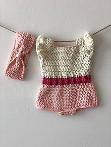 Detské oblečenie - Body Flamingo / Bodysuit Flamingo - 9338711_