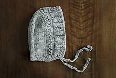 Detské čiapky - Jarný šedý čepček - 9341159_