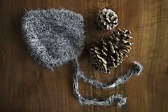 Detské čiapky - Chlpatá pixie čiapočka - 9341218_