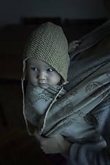 Detské čiapky - Retro béžový čepček - 9341285_