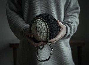 Detské čiapky - Čierny čepček 100% Alpaka - 9340885_