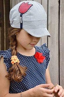 Detské čiapky - šiltovka Tulipán s menom - 9341166_