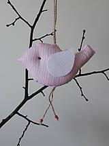 Vtáčik ružovobiely pásik