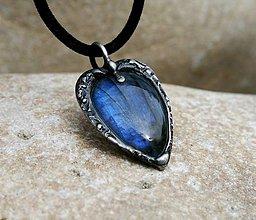 Náhrdelníky - Labradorit prívesok/náhrdelník - 9340428_