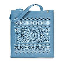 Nákupné tašky - Taška Dierkovaná Modrá - 9338651_