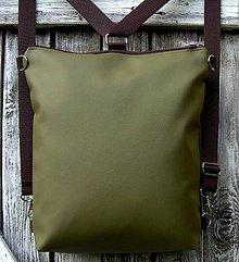 """Batohy - """"backpack 2in1 basic green"""" - Batoh & taška cez rameno - 9337812_"""
