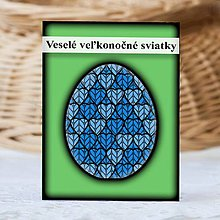 Papiernictvo - Geometrické veľkonočné vajíčko štrikované (srdiečka) - 9340223_
