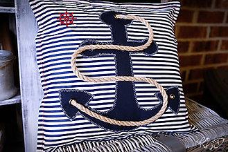 """Úžitkový textil - Vankúšik """"Námornícky"""" No.2 - 9343631_"""