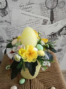 Dekorácie - Žlté vajíčko _veľkonočná dekorácia - 9342969_