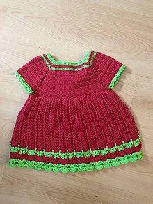 Detské oblečenie - Šatičky jahôdky - 9342274_
