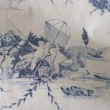 Úžitkový textil - Plachtovina - 100% bavlna s vintage motívom (extra šírka 280cm) - 9343037_
