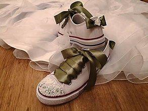 Obuv - Svadobné topánočky - zelená (Fialová) - 9342034_
