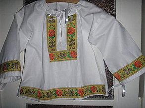 Detské oblečenie - Krojová košeľa - 9341589_