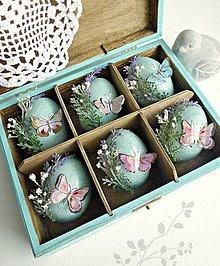 Dekorácie - Pastelová jar sada vajíčok - 9343169_