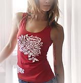 Tielka - Tielko červené s ornamentom - Harmony - 9341744_