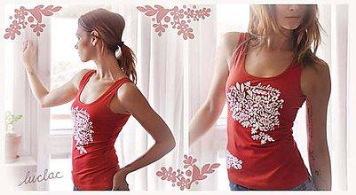 Tielka - Tielko červené s ornamentom - Harmony - 9341746_