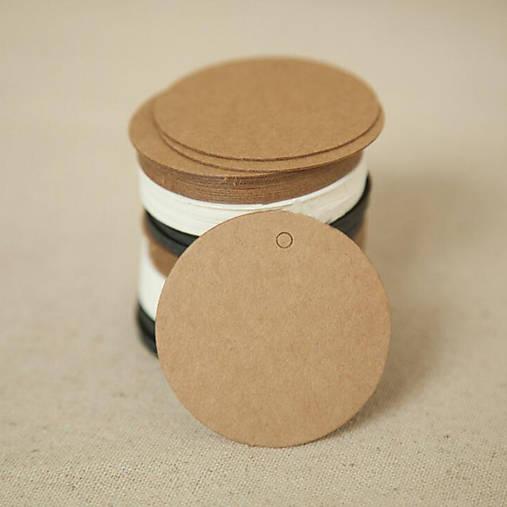 Craft visačky okrúhle 10 ks