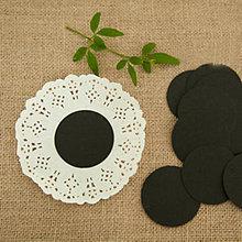 Papier - Craft visačky okrúhle 10 ks (Čierna) - 9344100_