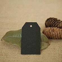 Papier - Craft visačky obdĺžnik 10 ks (Čierna) - 9344108_