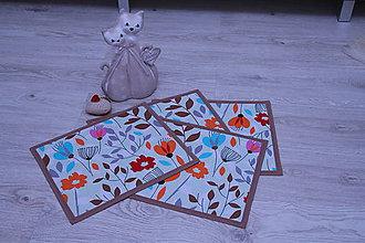 Úžitkový textil - Prestieranie-záplava kvetov - 9341469_