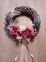 Dekorácie - Jarný veniec - Motýľ - 9341842_