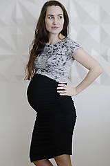 Tehotenské/Na dojčenie - Tehotenská sukňa DIAGONAL - 9342385_