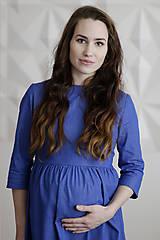 Riflové tehotenské šaty