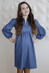 Tehotenské/Na dojčenie - Tehotenské denimové šaty - 9342591_