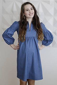 Tehotenské oblečenie - Tehotenské denimové šaty - 9342591_