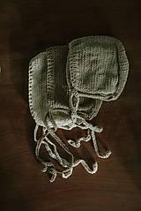 Detské čiapky - Béžový čepček - 9341310_