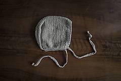 Detské čiapky - Bledohnedá bonetka - 9341314_