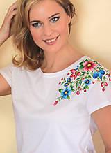 - Maľované tričko kvetinky... - 9343115_