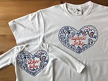 Rodinný maľovaný set tričiek s nápismi na želanie (Najlepší ocko + ockov šuhaj (body))