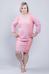 Pyžamy a župany - Nočná košeľa Side  - lososová - 9343840_