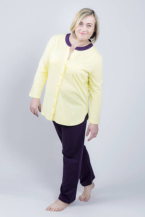 Pyžamo Lili G - žltá