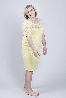 Pyžamy a župany - Nočná košeľa Daisy - žltá - 9343772_