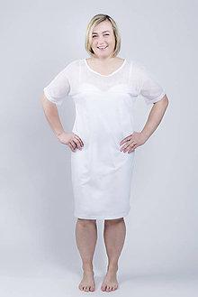 Pyžamy a župany - Nočná košeľa Daisy - biela - 9343865_