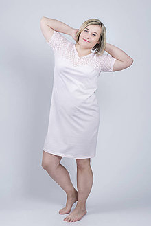 Pyžamy a župany - Nočná košeľa Daisy - ružová - 9343875_