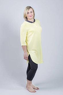 Pyžamy a župany - Pyžamo Lili - žltá - 9343892_