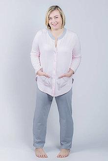 Pyžamy a župany - Pyžamo Lili G - ružová s VRECKAMI - 9343916_