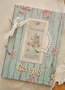 Papiernictvo - modrý receptár - 9341384_