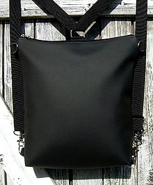 "Batohy - ""backpack 2in1 basic black"" - Batoh & taška cez rameno - 9341930_"