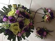 Kytice pre nevestu - Svadobno-gratulačny set-zlava - 9341640_