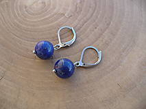 - náušnice Lapis Lazuli-oceľ - 9343689_