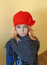 Detské čiapky - Cervena s maslou SKLADOM - 9343978_