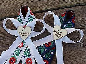 Pierka - Svadobné pierka Folk pre rodičov - 9345930_